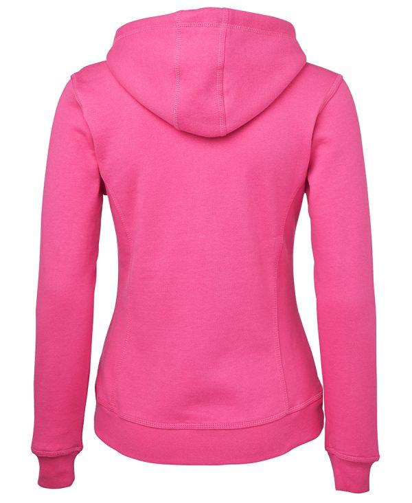 Full Zip Hoodie Pink Back